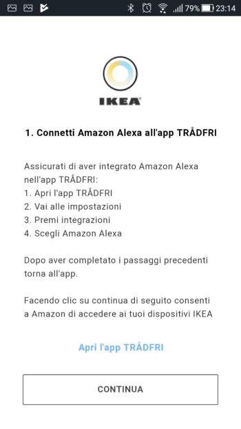 Amazon Alexa - App - Skill Ikea Tradfri - Connetti