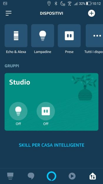 Amazon Alexa - App - Dispositivi
