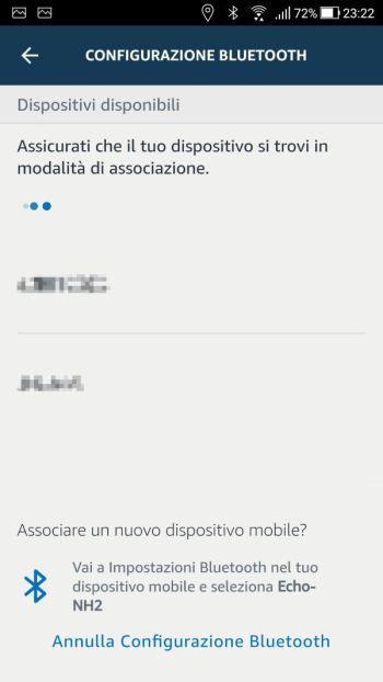 Amazon Alexa - Dispositivi Bluetooth - Ricerca