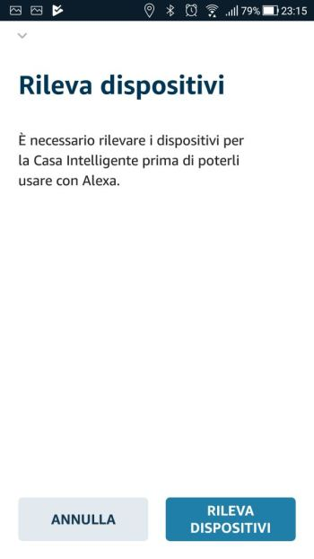 Amazon Alexa - App - Skill Ikea Tradfri - Rileva dispositivi
