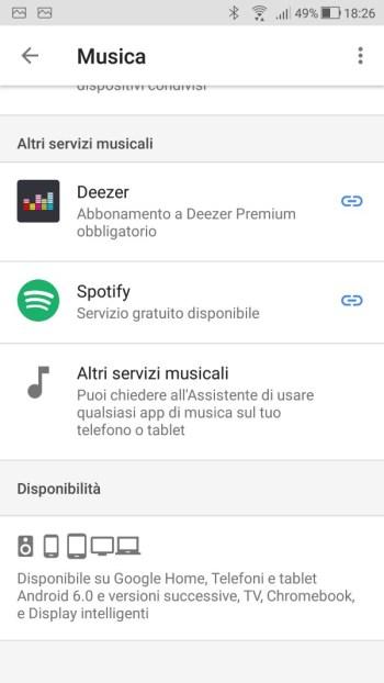 Google Home - Altri servizi musicali