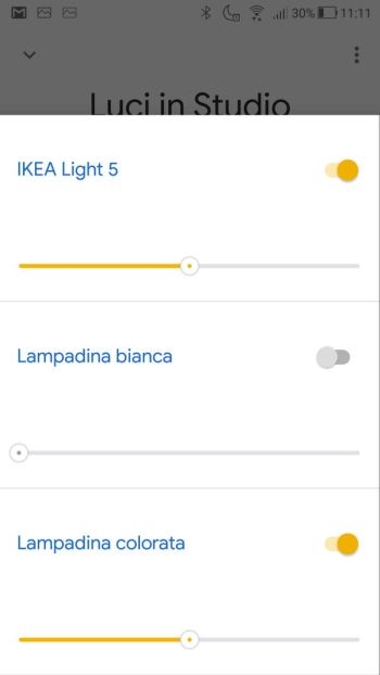 Ikea TRÅDFRI - App - Google Home - Luci studio maschera Dettaglio