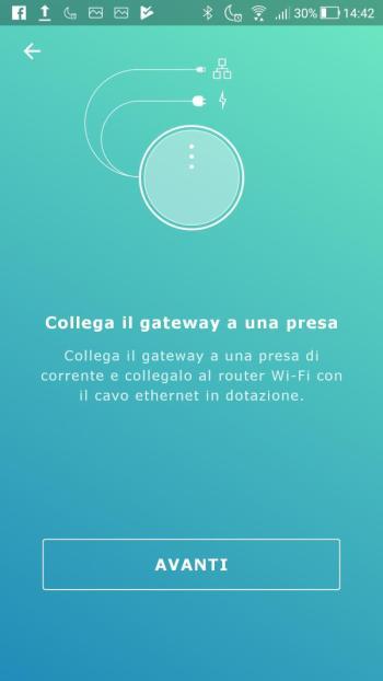 Ikea TRÅDFRI - App - Collegare Gateway rete