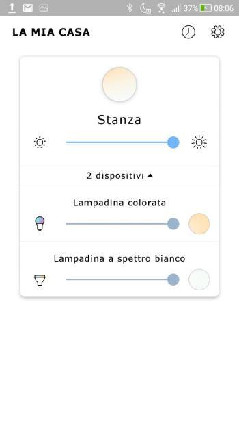 Ikea TRÅDFRI - App - Elenco dispositivi - Nome Cambiato