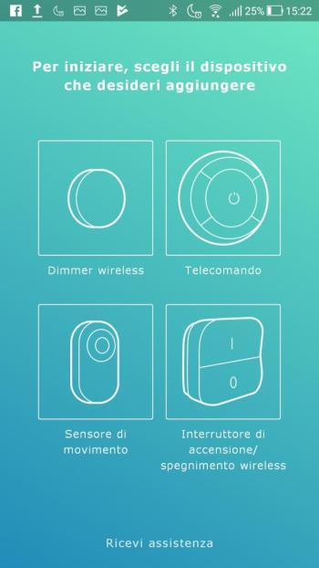 Ikea TRÅDFRI - App - Scegli dispositivo da aggiungere