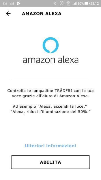 IkeaTRÅDFRI - App - Integrazione Amazon Alexa