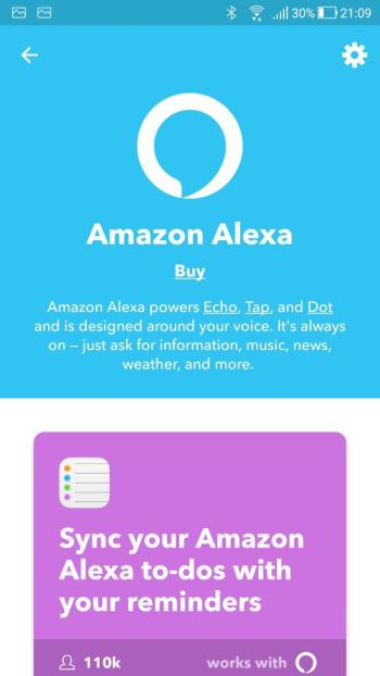 IFTTT - My Applets - Amazon Alexa