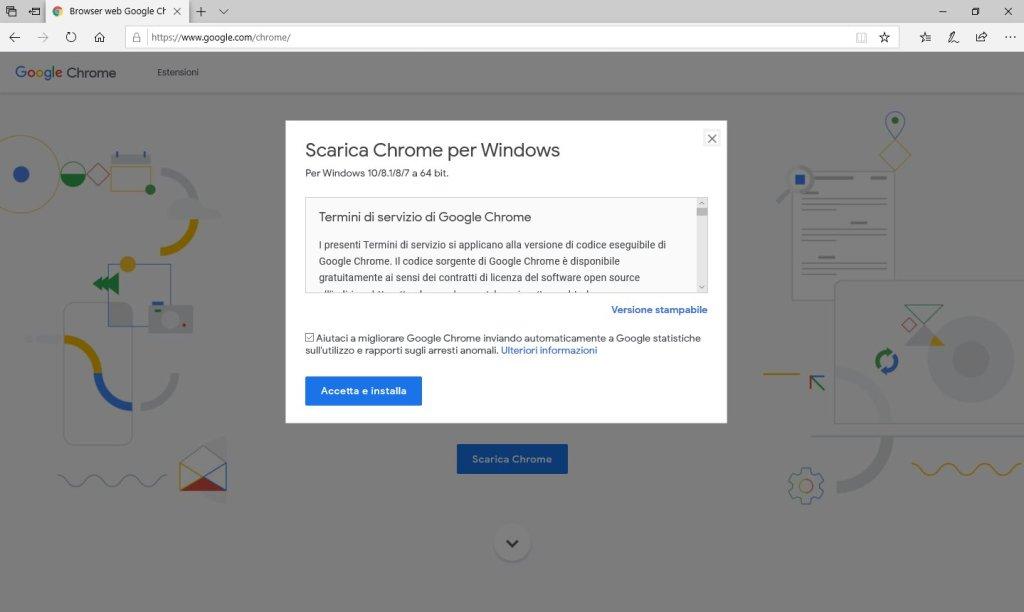 Google Chrome - Conferma Download