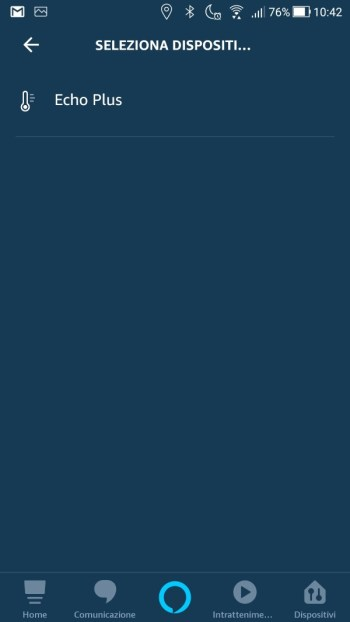 Amazon Alexa App - Maschera quando questo accade - Dispositivo