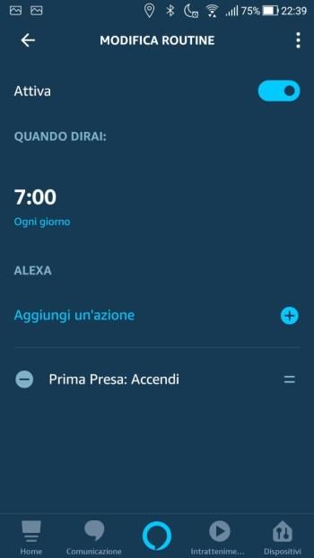 Amazon Alexa App - Routine dettaglio