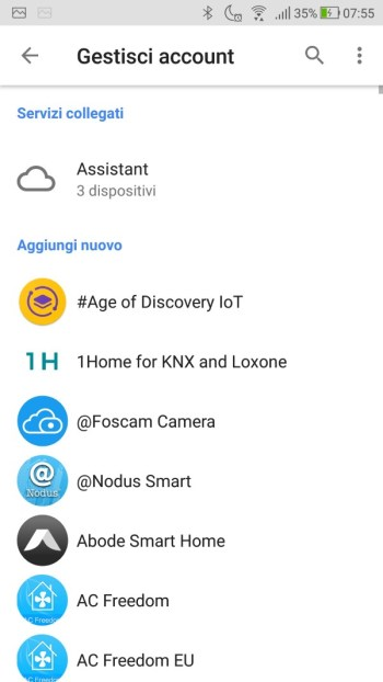 Google Home - Gestisci Account - No Ikea Home Smart