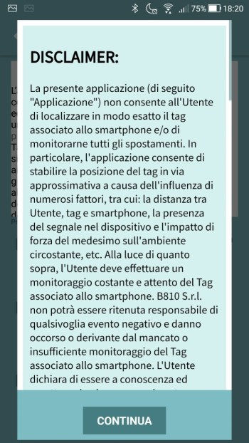 Tippy - Registrazione - Disclaimer