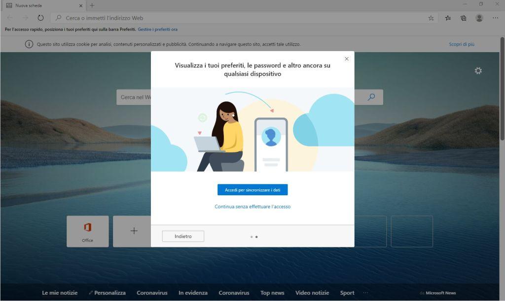 Edge Chromium - Visualizza i tuoi preferiti, le password e altro ancora su qualsiasi dispositivo