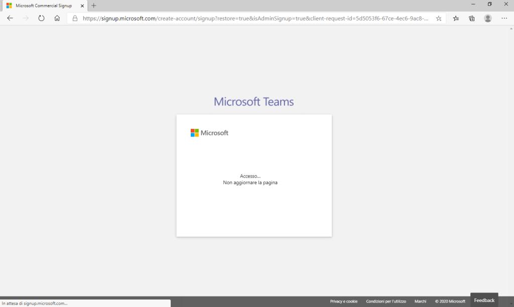 Microsoft Teams - Non aggiornare la pagina