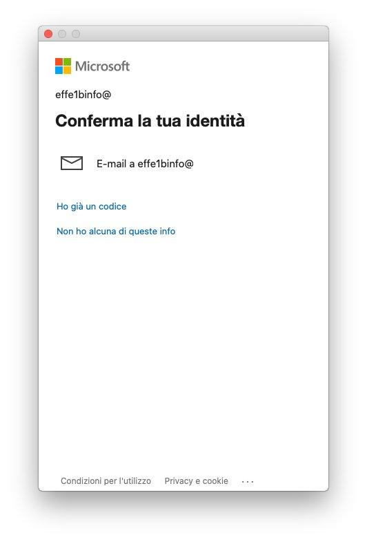 Microsoft Teams macOS - Conferma la tua identità