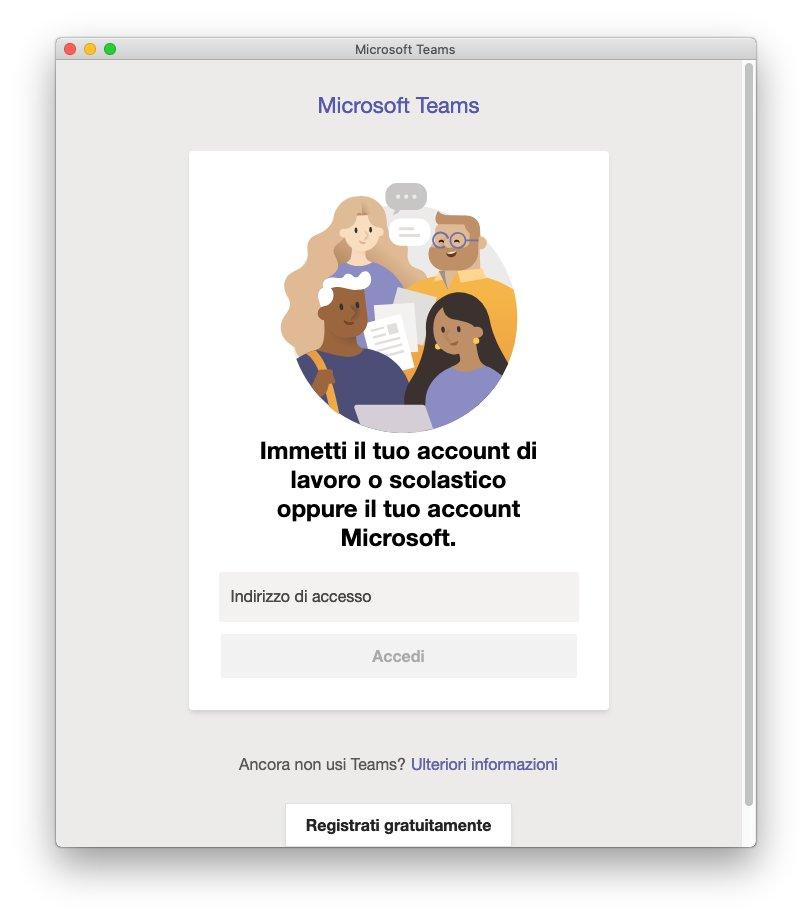 Microsoft Teams macOS - Immetti Account