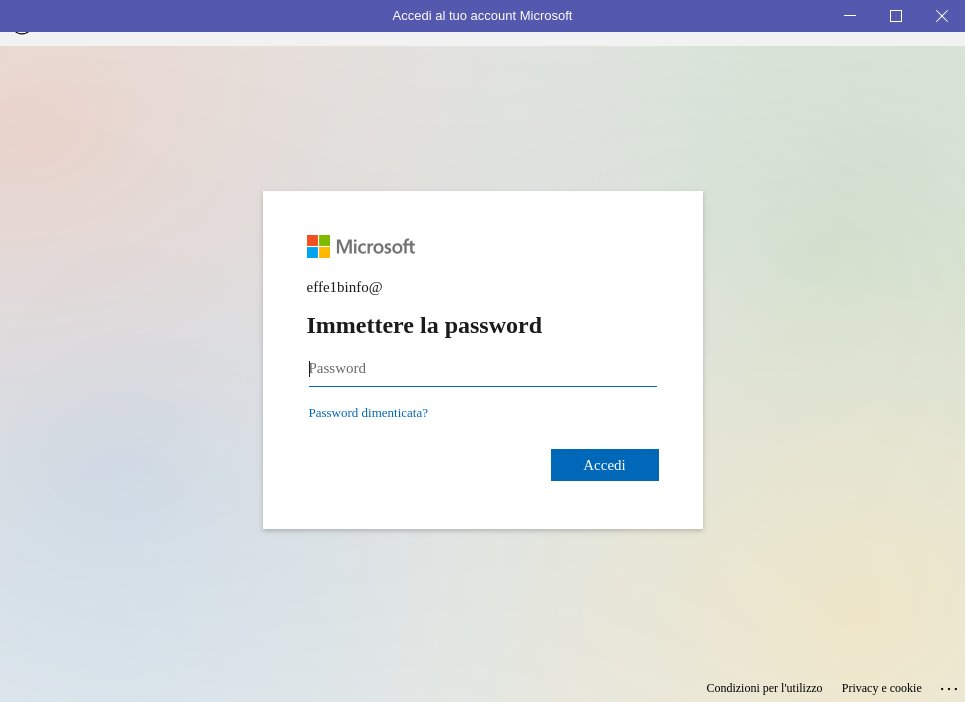Microsoft Teams Ubuntu - Immettere la password
