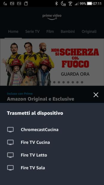 App Prime Video - Trasmetti a dispositivo