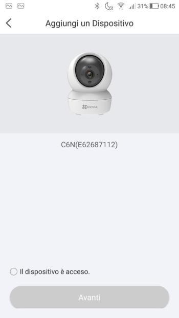 App EZVIZ - Aggiungi un dispositivo