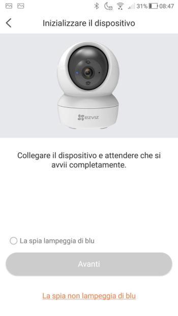 App EZVIZ - La spia lampeggia di blu?