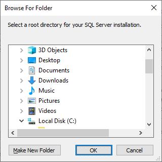 Microsoft Sql Server 2019 - Setup - Browse For Folder