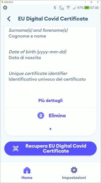 Immuni - EU Digital Covid Certificate - Seconda parte