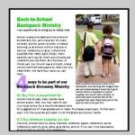 Shop the summer sales to get great supplies for Backpack ministries