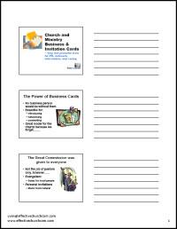 Handouts for Bus card seminar