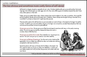 Lenten Card
