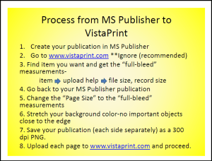 Handout One page for Vista print