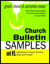 Church Bulletin Sample Books
