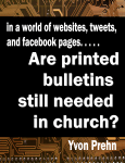 Are PRINTED Bulletins Needed Cover, contemp
