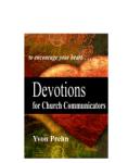 Devotions for Church Communicators