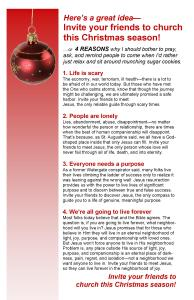 Bulletin Insert, Why invite to Christmas Events #2