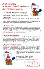 Bulletin Insert, Why invite to Christmas Events #4
