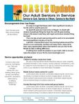 This newsletter in a MS Publisher template for a newsletter for Seniors.