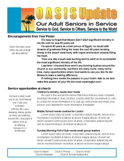 easy 2 page senior newsletter template in ms publisher