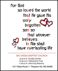 Valentines Day Outreach Card