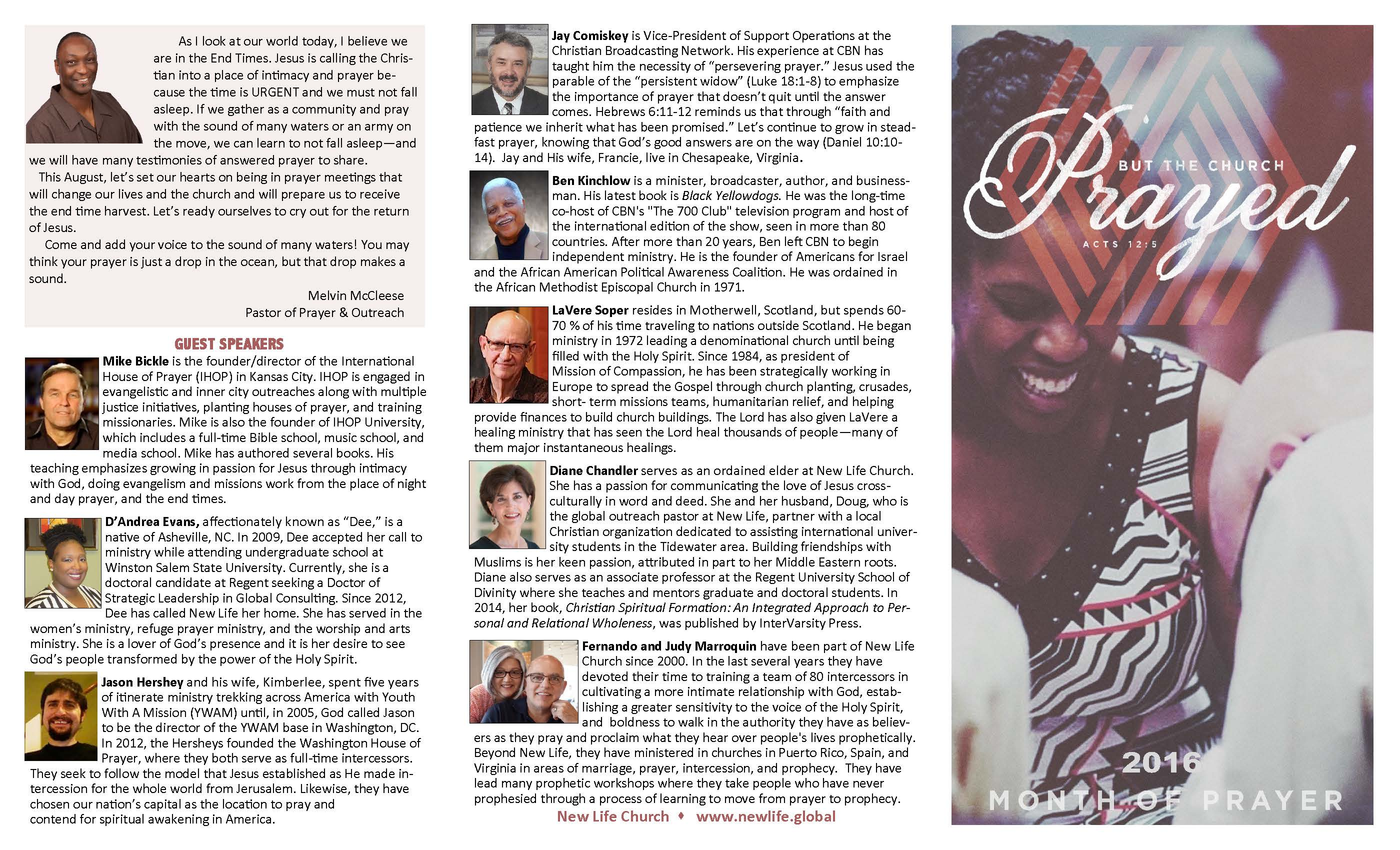 Calendar Typography Examples : Great sample of prayer ministry brochure and prayer calendar