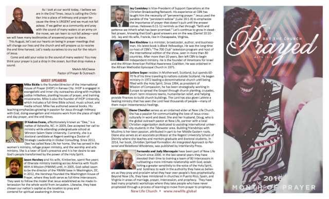 Great Sample of Prayer Ministry Brochure and Prayer Calendar
