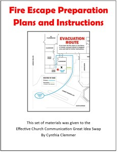 Fire Escape Plan for Churches