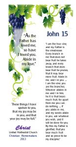Bible verse bookmark