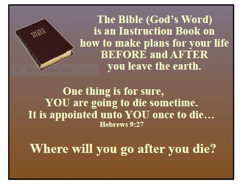 GIS: BIBLE (Basic Instructions Before Leaving Earth ...