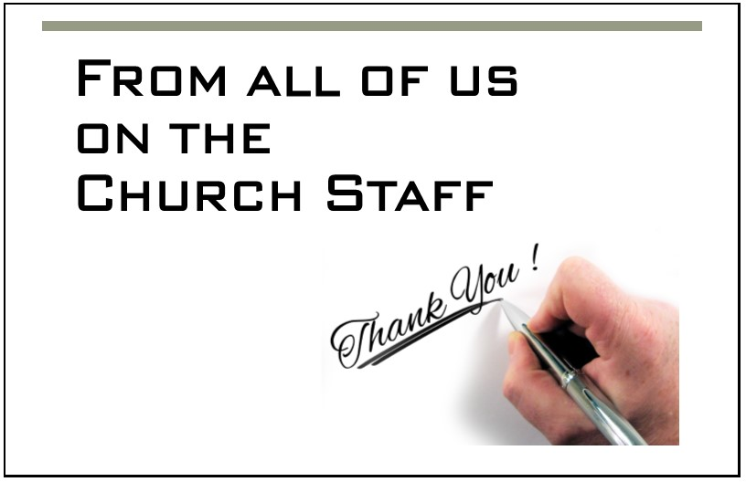 Thank you to our amazing volunteers! | Fellowship ... |Thank You Church Volunteers