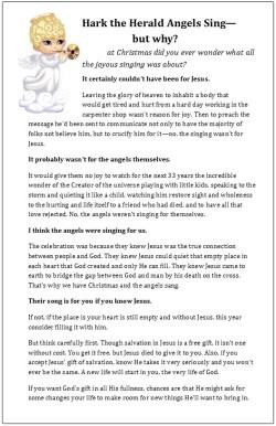 Christmas evangelism bulletin insert size