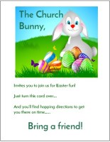 Church Bunny Invitations
