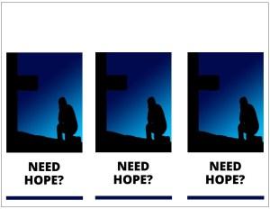 Door hanger about hope