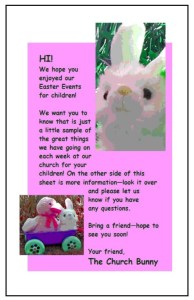Children's Easter Return Card