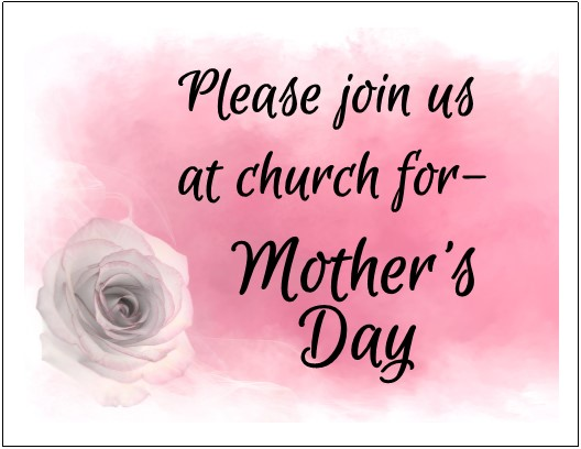 mother s day templates effective church communications