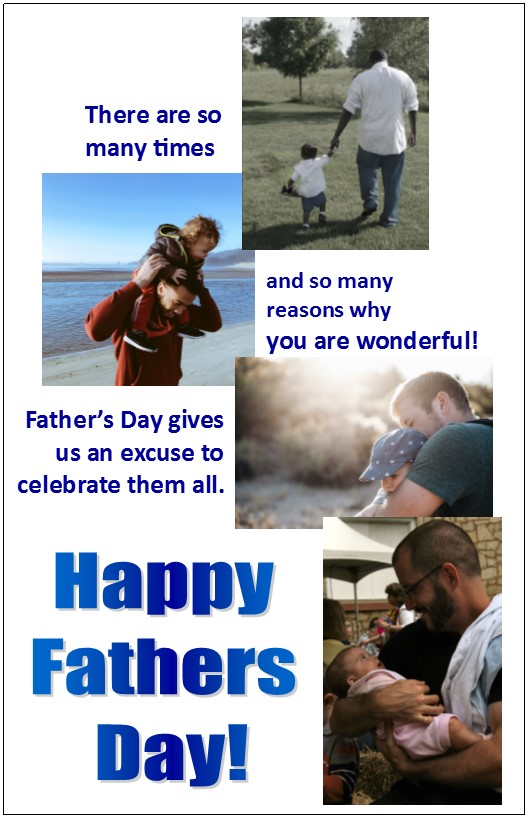 Father's Day Bulletin Insert